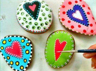 piedras-pintadas-corazon