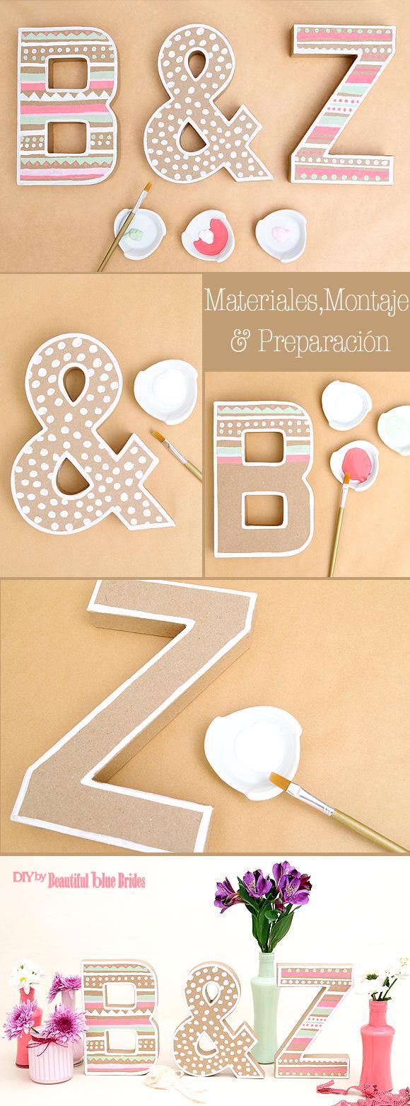 2 formas de decorar letras de cart n para tu fiesta - Formas de letras para decorar ...