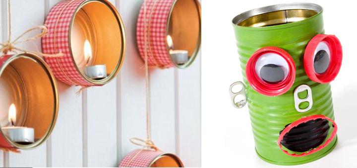 Manualidades con latas para almacenar en casa el blog de - Objetos reciclados para el hogar ...